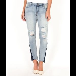 Kut From The Kloth Reese Ankle Shadow Hem Jeans